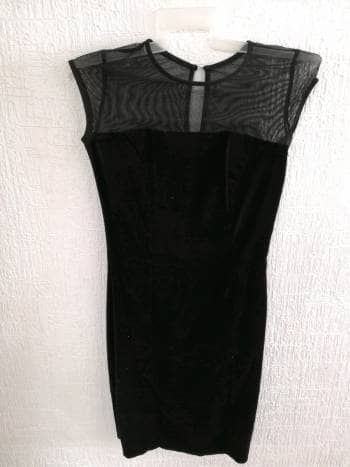 Vestido terciopelo tipo tubo