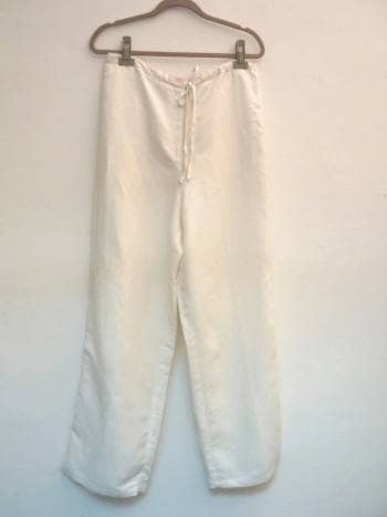 Pantalón de lino marfil