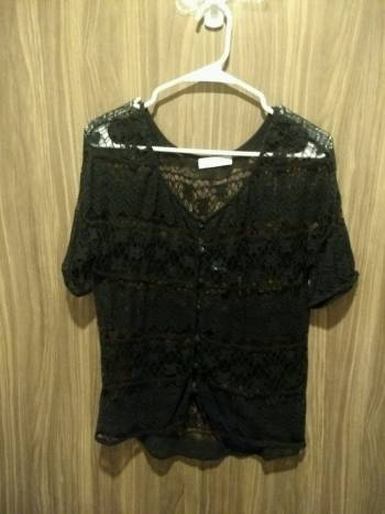 Blusa/sueter negro transparente