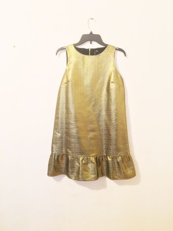 Vestido flamenca dorado