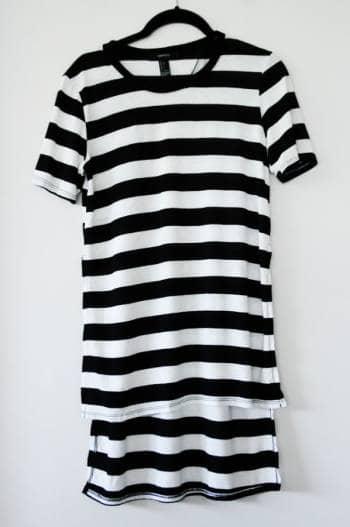 Blusa de rayas negras