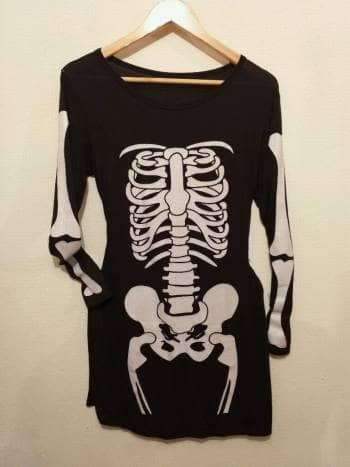 Vestido de esqueleto nuevo de temporada