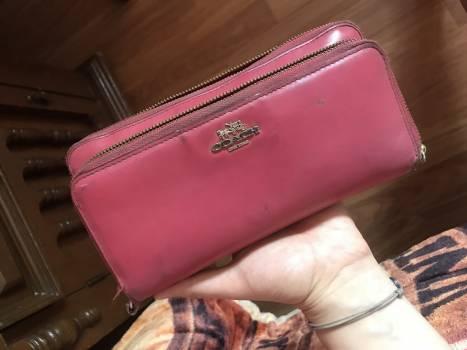 Cartera Coach de piel color rosa