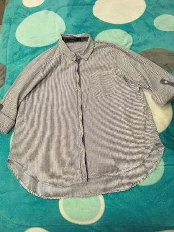 Camisa rayitas azules XL ///PROMO 2x1