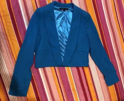 Saco azul corto