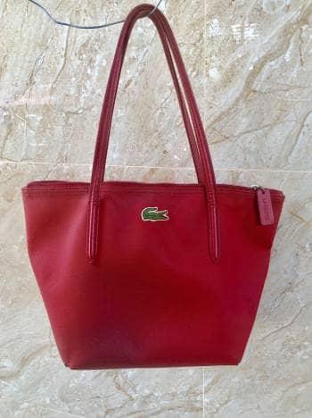 Bolsa Roja Lacoste Original