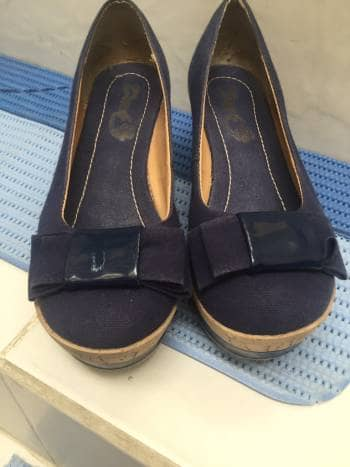 Zapato mezcilla azul 4.5