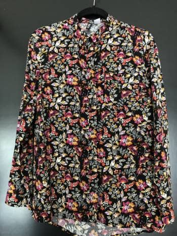 Camisa flores obscura