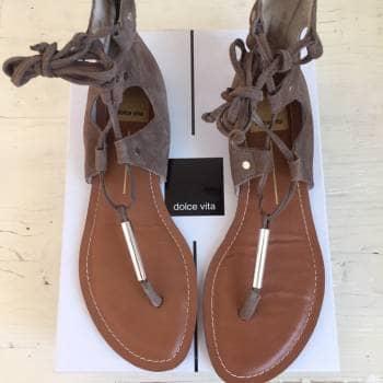 Sandalias de piel estilo gladiador