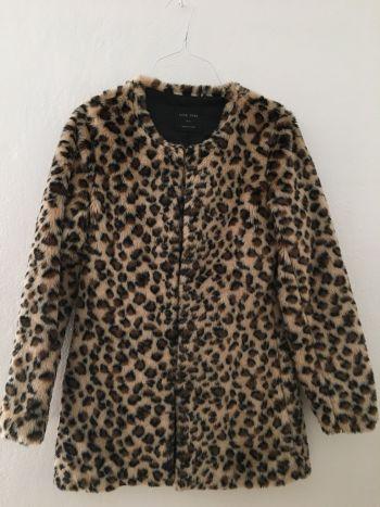 Abrigo faux fur o 'pelo' leopardo