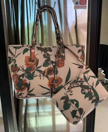 Bolso Tote GUESS Rosa y Flores
