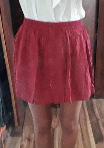 Falda con botones