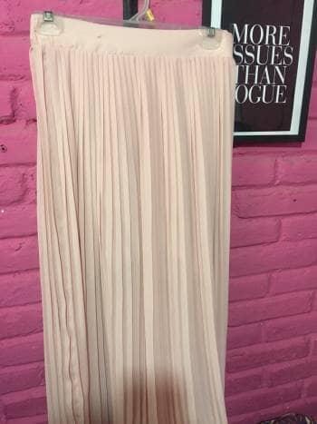 Maxi falda tableada tono palo de rosa - GoTrendier - 657649 9c09e0bc9252