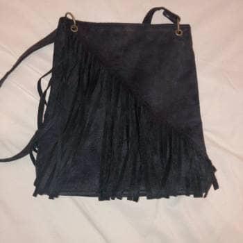 Bolsa de Flecos-Boho Negra