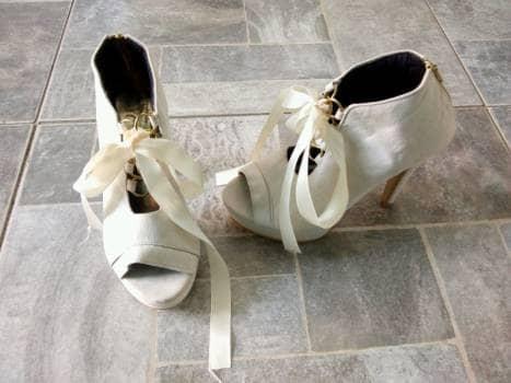 Zapatullas de listón ❤️ color beige.